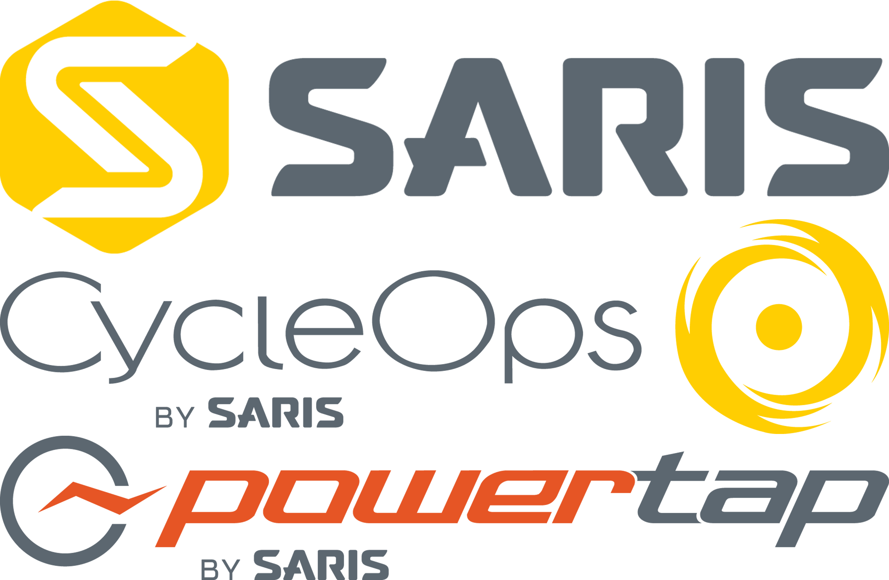 Saris, CycleOps, and PowerTap Logos